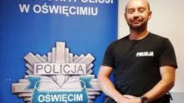 """Oświęcim. Michał Korczyk - uratował życie - kandydat na """"Policjanta Małopolski Roku 2019"""""""