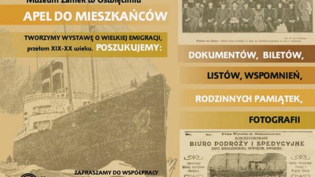 OŚWIĘCIM. Muzeum Zamek poszukuje pamiątek po emigrantach