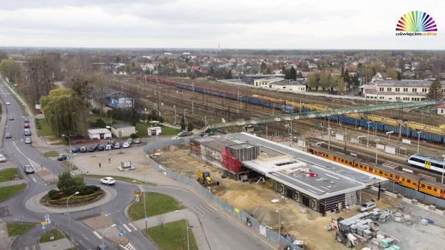 OŚWIĘCIM. Nowy dworzec kolejowy zostanie otwarty na wiosnę
