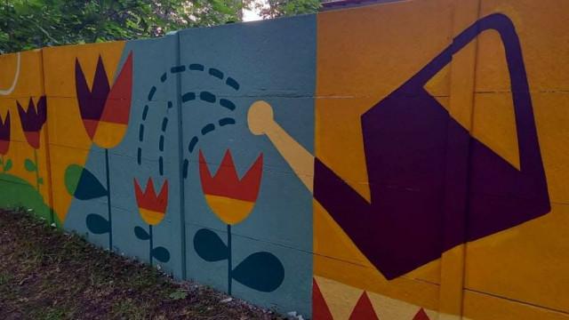 OŚWIĘCIM. Nowy mural ozdobił park miejski