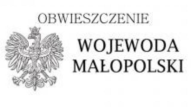 Oświęcim. Obwieszczenie Wojewody Małopolskiego
