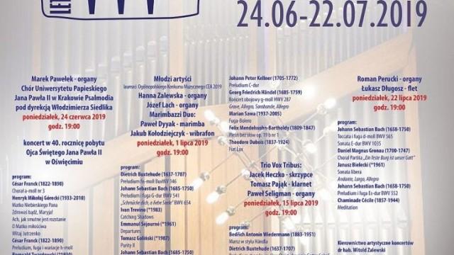 Oświęcim. OCK zaprasza melomanów na 24. Letnie Koncerty Organowe