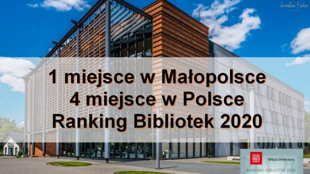 Oświęcim. Oświęcimska książnica ponownie najlepsza w Małopolsce. W kraju jest czwarta