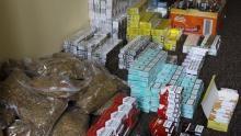 Oświęcim. Policjanci zlikwidowali kolejny punkt nielegalnego handlu  tytoniem i alkoholem bez polskich znaków akcyzy.