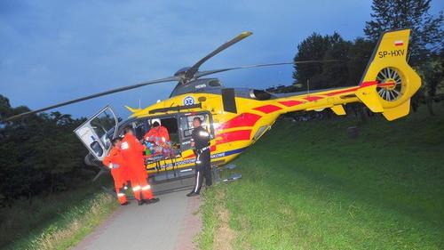 OŚWIĘCIM. Porażony prądem 13-latek trafił do szpitala. Helikopter wylądował na wale