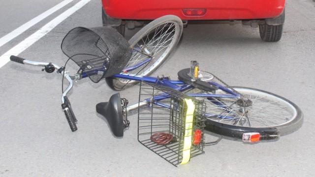 OŚWIĘCIM. Potrącona rowerzystka doznała tylko stłuczeń