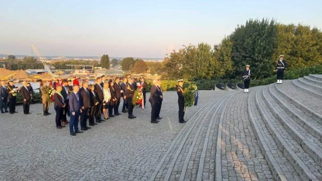 Oświęcim. Prezydent Janusz Chwierut na Westerplatte na uroczystościach 80. rocznicę wybuchu drugiej wojny światowej
