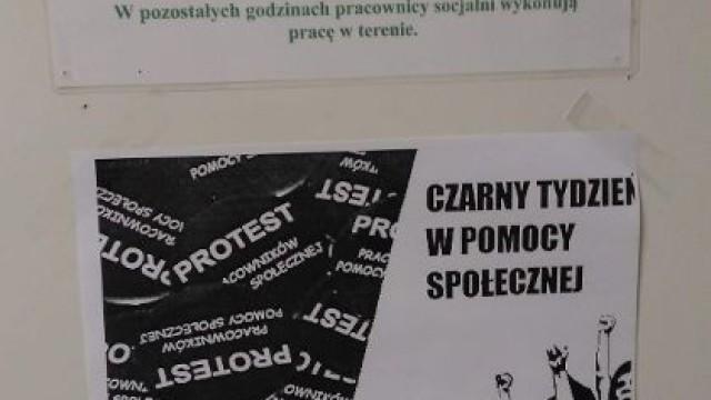 OŚWIĘCIM. Protest pracowników MOPS. Chcą podwyżek i lepszych warunków pracy