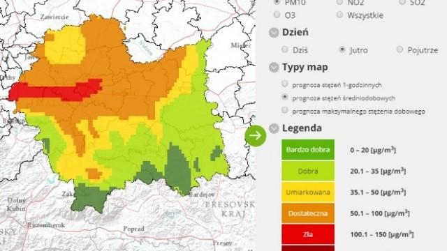 Oświęcim. Ryzyko przekroczenia poziomu alarmowego pyłu zawieszonego PM10