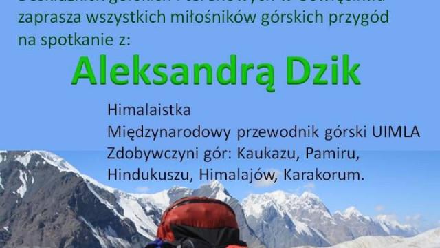 OŚWIĘCIM. Spotkanie z himalaistką Aleksandrą Dzik