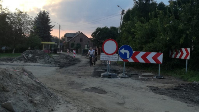Oświęcim. Trwa przebudowa ulicy Garbarskiej i ulicy Wysokie Brzegi