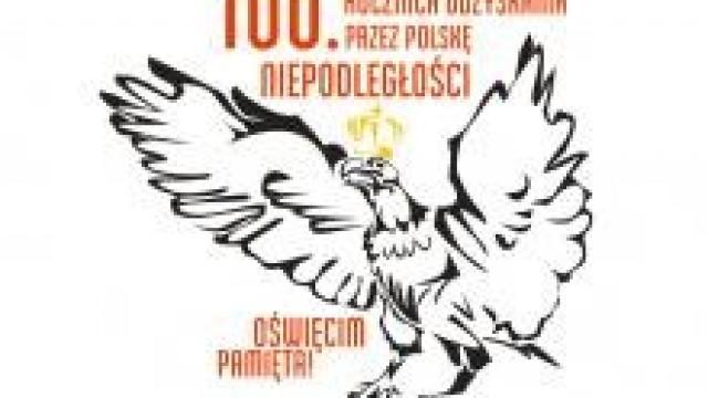 Oświęcim.  Uroczystość 100. Rocznicy Odzyskania Niepodległości przez Polskę