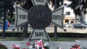 Oświęcim. Uroczystości na placu Kościuszki upamiętniające 79. rocznicę wybuchu II wojny światowej