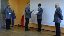 Oświęcim. Wprowadzenie i powitanie młodszego inspektora Marka Nowaka pełniącego obowiązki I Zastępcy Komendanta Powiatowego Policji w Oświęcimiu