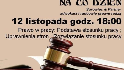 OŚWIĘCIM. Wykład z zakresu prawa pracy