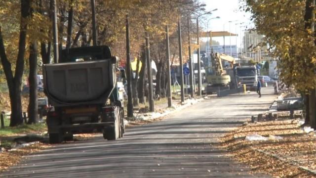 Oświęcim. Zamknięty odcinek ulicy Olszewskiego w związku z przebudową