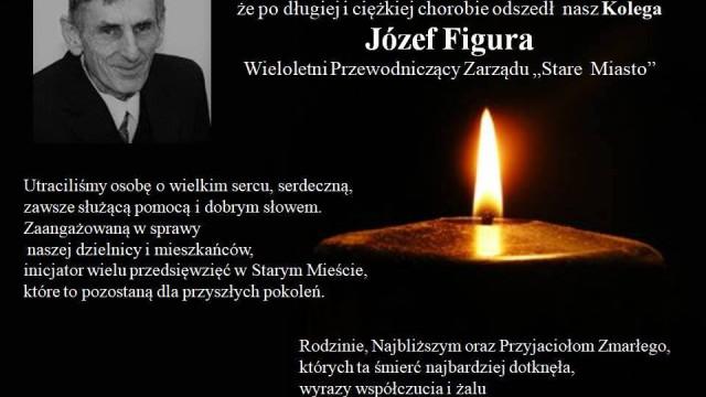 """OŚWIĘCIM. Zmarł Józef Figura, wieloletni przewodniczący zarządu """"Stare Miasto"""""""