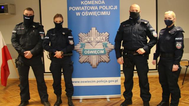 Oświęcimscy policjanci z narażeniem życia interweniowali wobec samobójcy, który mógł doprowadzić do wybuchu gazu