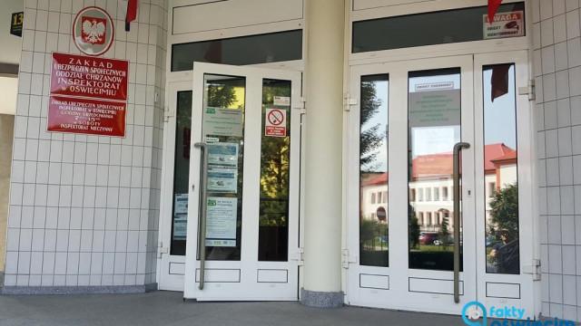 Oświęcimski ZUS zamknięty dla klientów