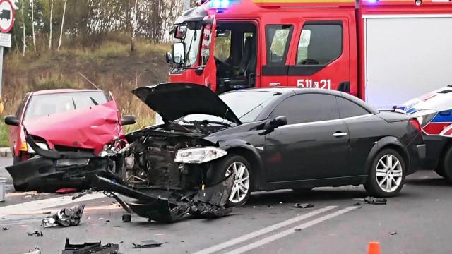 Pięć osób rannych w wypadku drogowym w Chełmku. ZDJĘCIA !