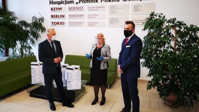 Piękny gest władz Powiatu dla oświęcimskiego hospicjum