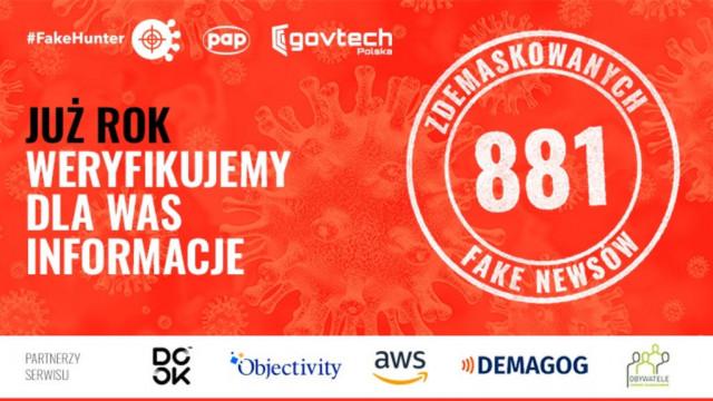 Pierwsze urodziny #FakeHuntera Polskiej Agencji Prasowej