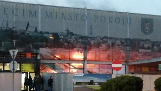 Płonie dworzec kolejowy w Oświęcimiu – FOTO