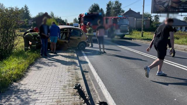 Po wypadku zablokowana DK44 w Babicach – ZDJĘCIA!