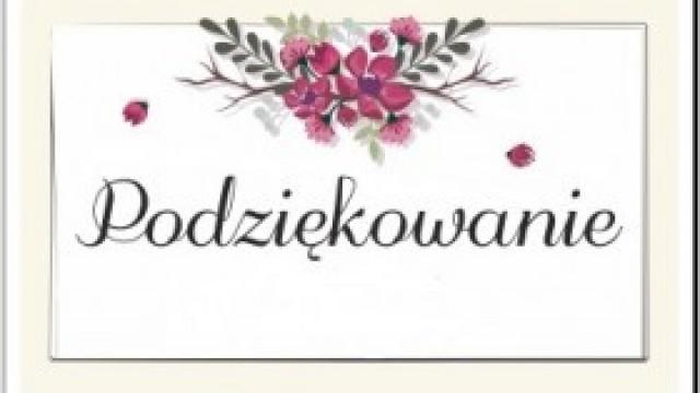 Podziękowania sołtysa Witkowic za udział w Zebraniu Wiejskim