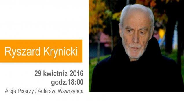 Poeta Ryszard Krynicki odsłoni swoją płytę w Alei Pisarzy