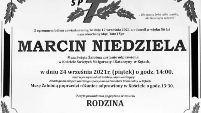 Pogrzeb Starosty Oświęcimskiego, śp. Marcina Niedzieli odbędzie się 24 września w rodzinnych Kętach