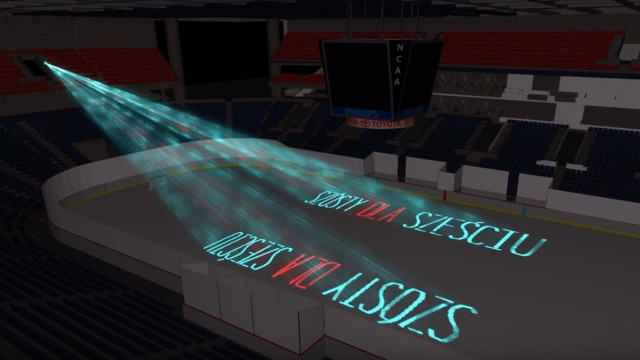 Pokaz laserów na meczu MOWP vs. HRAP – FOTO