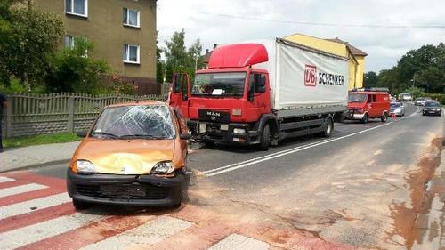 POLANKA WIELKA. Ciężarówka nie wyhamowała i... nieszczęście gotowe
