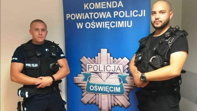 Policjanci Jarosz i Bednarczyk w akcjach ratowania życia
