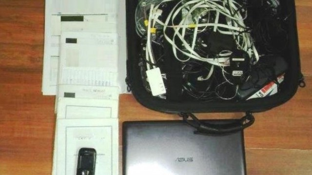 Policjanci zatrzymali sprawcę kradzieży i odzyskali laptopa