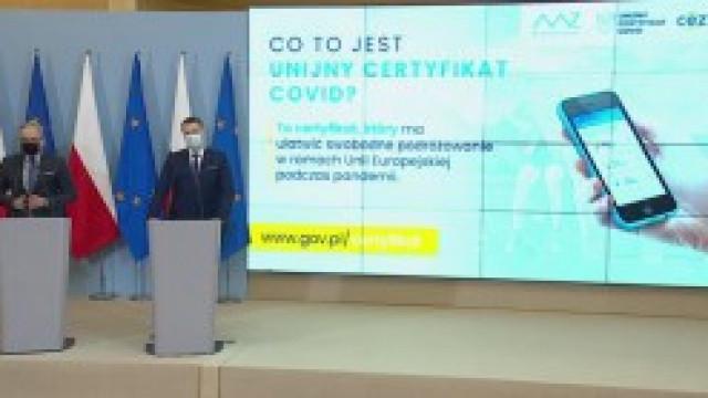 Polska została podłączona do systemu Unijnych Certyfikatów Covid
