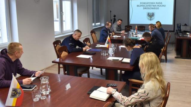 Posiedzenie Powiatowej Rady Bezpieczeństwa Ruchu Drogowego