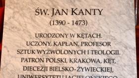 Poświęcono tablicę upamiętniającą patrona Kęt – św. Jana Kantego