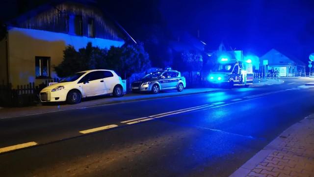 Potrącenie osoby na DW948 w gminie Kęty