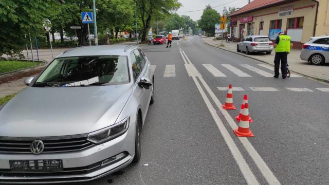 Potrącenie rowerzysty na ul. Ofiar Oświęcimia - InfoBrzeszcze.pl