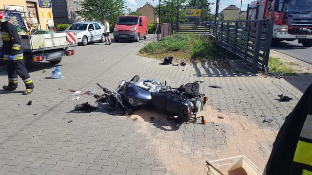 Poważny wypadek w Gorzowie. Ciężko ranny motocyklista trafił do szpitala. ZDJĘCIA !