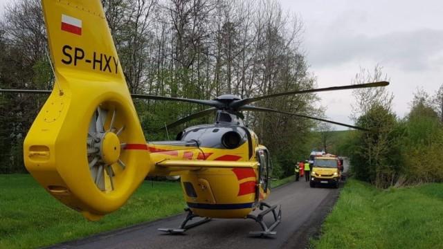 Poważny wypadek w Witkowicach. Na miejscu wylądował śmigłowiec LPR – ZDJĘCIA!