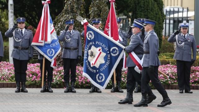 POWIAT. Nadanie sztandaru Komendzie Powiatowej Policji w Oświęcimiu