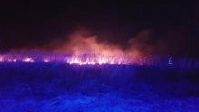 Powiat oświęcimski. Niebezpieczne pożary łąk. Służby apelują o rozsądek i szybką reakcje na zagrożenie.