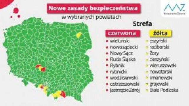 Powiat oświęcimski opuścił żółtą strefę