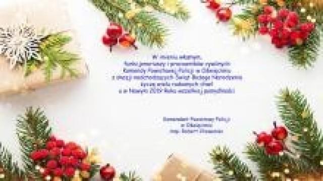 Powiat oświęcimski. Życzenia świąteczno-noworoczne od Komendanta Powiatowego Policji w Oświęcimiu