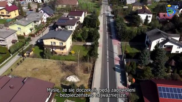 POWIAT. Wyremontowana ulica Oświęcimska z ziemi i powietrza