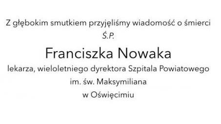 POWIAT. Zmarł Franciszek Nowak