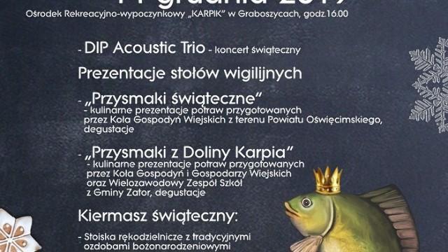 Powiatowy Przegląd Stołów Wigilijnych w Graboszycach. Z zatorskim karpiem w głównej roli