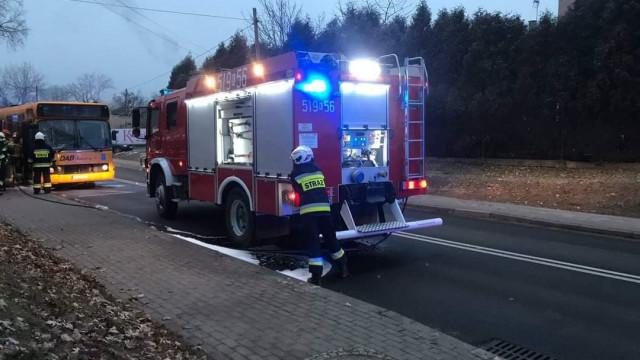 Pożar autobusu MZK Oświecim w Jawiszowicach - InfoBrzeszcze.pl